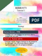 BIBB3073 TUTO 1