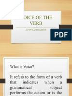 VOICE OF THE VERB