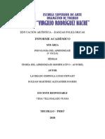 TEORÍA DEL APRENDIZAJE SIGNIFICATIVO - DAVID AUSUBEL
