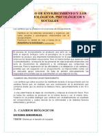 LOS PROCESO DE ENVEJECIMIENTO Y LOS CAMBIOS BIOLÓGICOS
