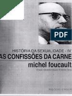 FOUCAULT Michel História Da Sexualidade IV As Confissões Da Carne Português_I