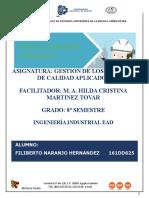 Aspectos e Impactos Ambientales - Naranjo Hernandez Filiberto