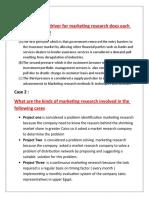 Marketing Research Answers 2015