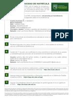 Proceso de Matriculación Final Mayo 2020