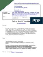 Fading Spanish Translation.pdf