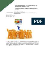 Artículo Mercadotecnia Política ESIC para revistas de Marketing