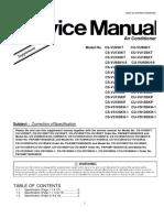 Supplement Service Manual CS(CU)-VU12SKQ