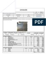 Cotización 2259 Fabricación túnel sanitizador