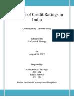 Credit Rating of India Report_IIMB