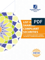 List of Shariah-Compliant Securities as at 29 May 2020