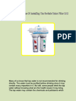 Top 5 Advantages Of Installing The So-Safe Water Filter UAE