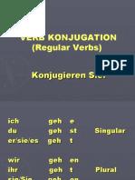 German Verb Konjugation
