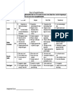 Rubric for excretory system phamplets