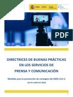 Directrices de Buenas Prácticas en Servicios de Prensa y Comunicación 03.06.20