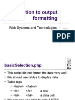Introduction to Output Formatting