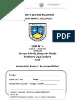 Guía 4 - Tercero medio - lengua y lit. NEET