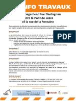 Infos travaux - Réaménagement Rue Dantagnan