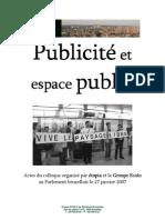 Publicité et espace public