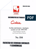 DOCUMENTO DE TRABAJO No.184 JFS.