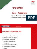 TOPOGRAFIA SESION 1 - ING CIVIL