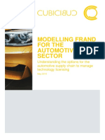 Cubicibuc - Modelling FRAND Options for the Automotive Sector