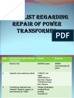 Checklist xmer repair2
