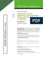 04097009 Tortti 1999 - Izquierda y nueva izquierda en la Argentina. El caso del Partido Comunista