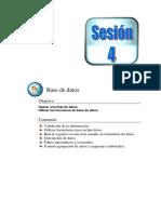 Sesión 4 Base de datos