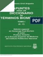 Apuntes para un diccionario de términos biomédicos I