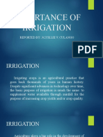Importance of Irrigation