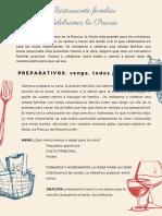 Rojo Azul Ilustración Francés Restaurante Menú (1)