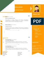 Orange Flat Resume-WPS Office