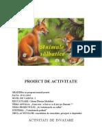 animalele sallbatice proiect
