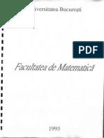 Facultatea de Matematica Bucuresti - 1993