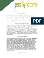 Aspergers Leaflet