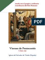Viernes de Pentecostés. Propio y Ordinario de la Santa Misa