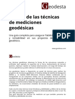 Técnicas de mediciones Geodésicas