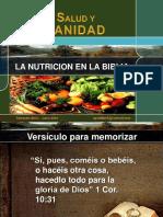 NUTRICION Y SALUD CITA BIBLICA