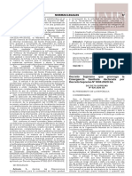 Decreto Supremo N° 020-2020-SA
