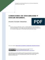 Alvarez Gonzalo Sebastian (2015). CONDICIONES DE EDUCABILIDAD Y EDUCAR NEGANDO
