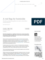 Red Flag for Homicide, A - Policy Forum