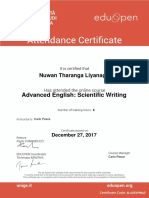 Scientific Writing in English_Attendace Certificate