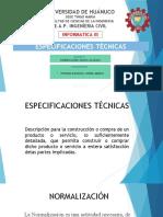 ESPECIFICACIONES TECNICAS PERUANAS