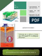 Sondeos de Inv.Geologica