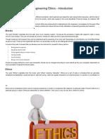 Engineering Ethics - Introduction - Tutorialspoint