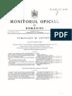 Monitorul Oficial  Partea III anunt  concurs