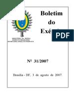 Portaria nº 101 - EME, de 1º Ago 2007 referenciação de cargos QCP