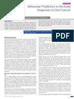 Molecular predictors in early diagnosis of oral cancer