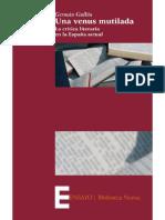 Una venus mutilada. La crítica literaria en la España actual - Germán Guillón