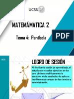 TEMA 4- PARÁBOLA